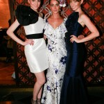 Three models wearing Jacqueline Buck designs
