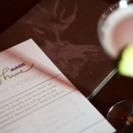 A photo of the voting form for the Chambord Shine Awards with an out of focus french martini.