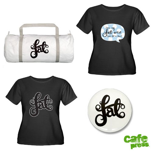 Image of cafepress products: two black tshirts and a gym bag.