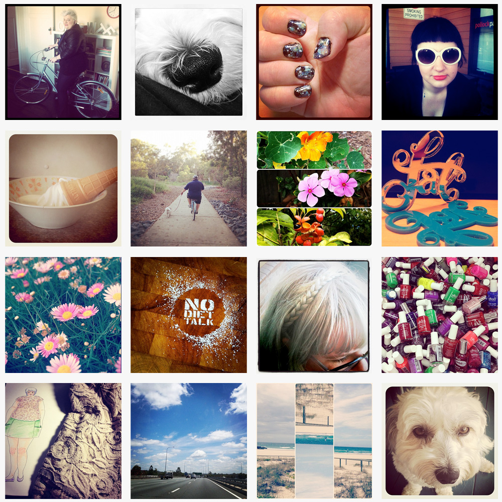 A collage of 16 Instagram photos of various things from this year.