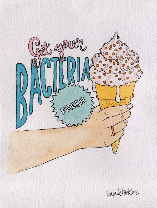 Ice Cream Tumblr Drawing a Watercoloured Drawing of a