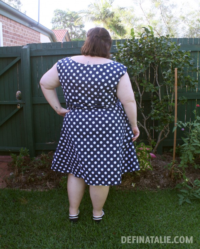 The back of my polka dot dress.