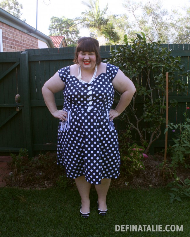Hands on hips, looking very pleased with myself!