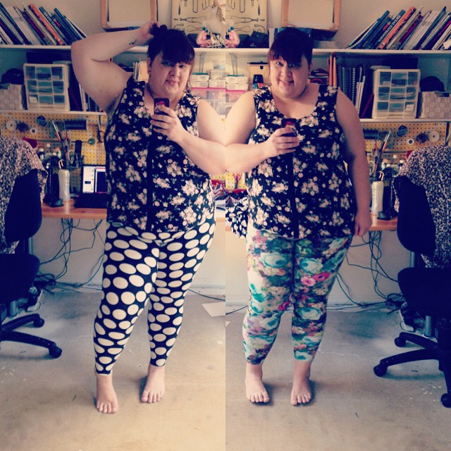 RE/DRESS LEGGINGS!!!! It's entirely the wrong weather over here but look at these fantastic patterns!!! #fatgirlsinleggings #effyourbeautystandards #chubbybunnies #redress #dontcarewhatyouthink