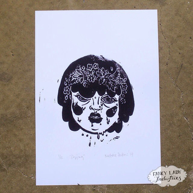 You can buy one of these lino prints right now! (Edition of 12.) ? fancyladyindustries.com ?