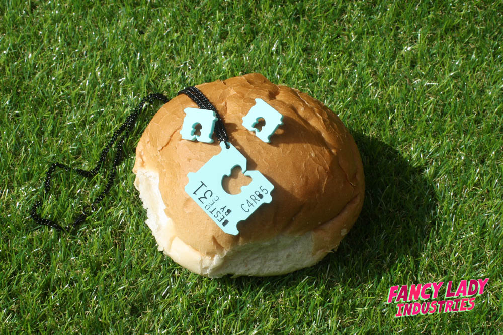 Bread tag earrings and necklace