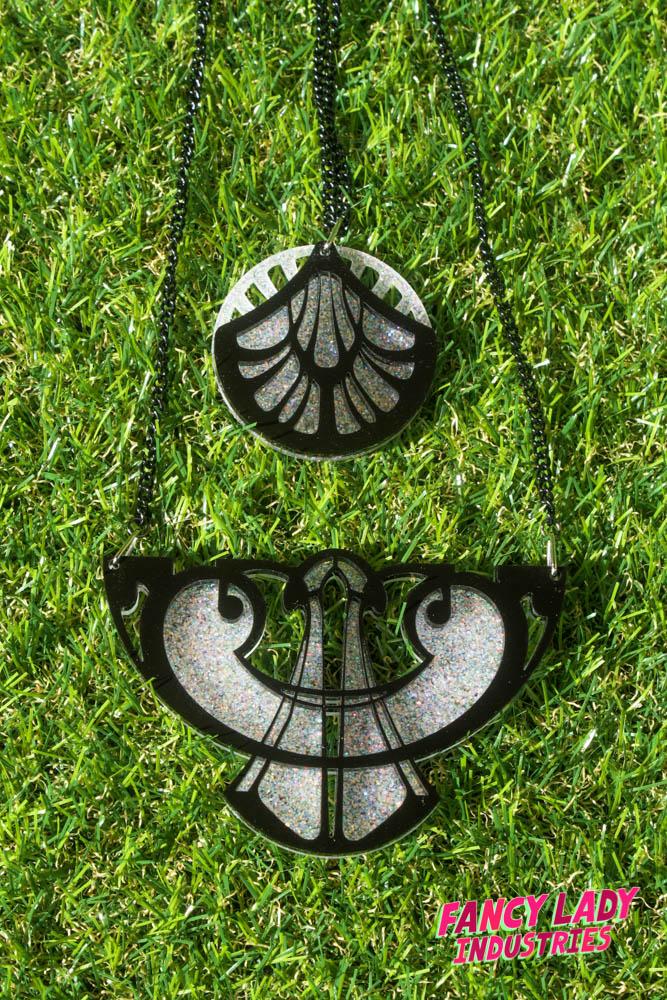 Art Nouveau Laser Cut Necklaces