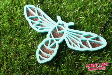 Steampunk wasp necklace