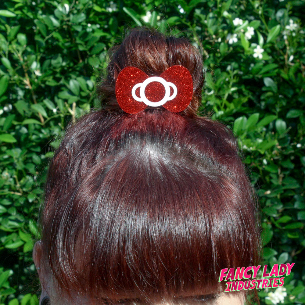 Natalie and the Red Glitter Hair Bow