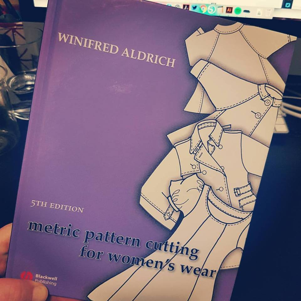 My friend Poli bought me this copy of Adrich's Metric Pattern Cutting For Women's Wear a few years ago. It's brilliant.